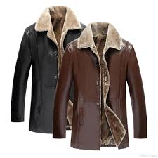 winter leather jacket 2017 men casual fashion jackets lapel black brown faux fur high quality pu male stand collar slim fit coat l 5xl blue ja coats and