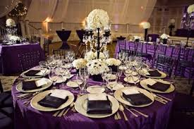 purple tablecloths for wedding. are you doing a light purple or dark purple? just some ideas. tablecloths for wedding wire