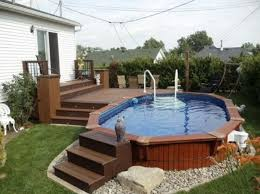 Backyard Pools Designs Interesting Phenomenal Above Ground Pool Design 48 Best Landscaping Image On