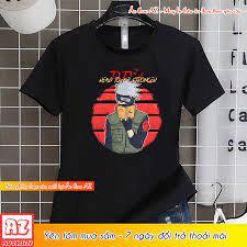 Áo thun Naruto Hatake Kakashi màu đen đẹp - Có size trẻ em M2777 – Áo thun  AZ - May In Thêu áo thun đồng phục theo yêu cầu tại Cần Thơ