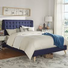 Niels Danish Modern Tufted Fabric Upholstered Queen Size Bed iNSPIRE Q  Modern - Free Shipping Today - Overstock.com - 20144596