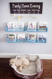 DIY blue bookshelves from IKEA Bekvam racks (via  www.kristendukephotography.com)