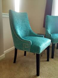 image of turquoise leather dining chair crafthubs