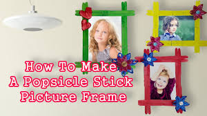photo frame diy craft ideas best out of waste popsicle stick picture frame diy craft ideas