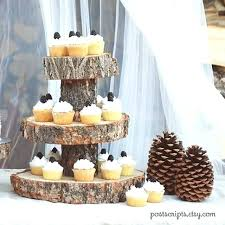 rustic wood cake stand with dome how to make wooden stands tutorial your own tree slice rustic wooden wedding cake stand