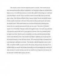 muscular system essay similar essays