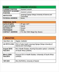 Nursing Curriculum Vitae Classy 28 Nursing Curriculum Vitae Templates PDF DOC Free Premium