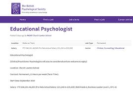 Featured Job Educational Psychologist The Psychologist