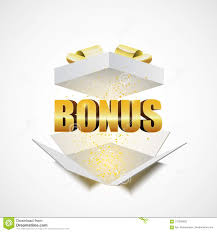 The Word Gift Open White Gift Box With The Word Bonus Stock Vector Illustration