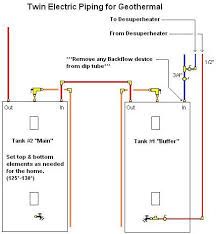 desuperheater hot water getting into cold water faucets twin electric piping for geothermal desuperheater jpg