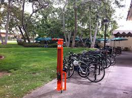 the bike repair station was purchased with funds from the moore hufstedler fund at caltech and caltech bike lab paid for costs of installation