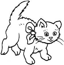 Christmas Cat Coloring Pages Tonyshume