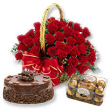 roses basket bo valentine s day hyderabad