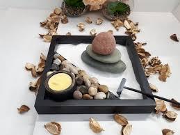 zen garden with pebbles crystal sand