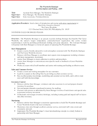 New Assistant Manager Responsibilities Resume Excuse Letter