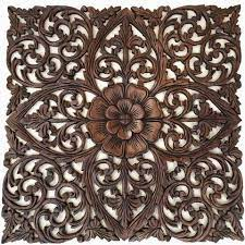 carved wooden wall decor carved