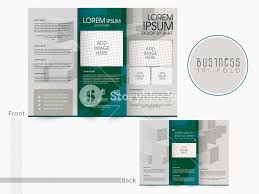 Presentation Trifold Front And Back Page Presentation Of Trifold Brochure Template Or