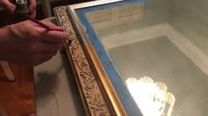 diy painted mirror frame. Painting A Gold Mirror Frame Diy Painted