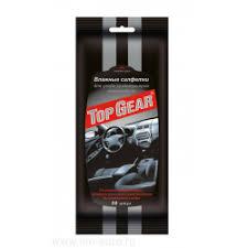 <b>Влажные салфетки</b> для ухода за интерьером автомобиля <b>Top</b> Gear