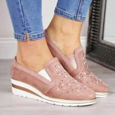 Ebay Asian Size Chart Details About New Style Women Flat Lace Drills Without Straps Fashion Casual Shoes
