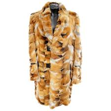 roberto cavalli fox fur coat for men for