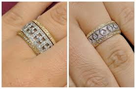 Wedding Rings Engagement Ring And Wedding Band Don T Fit
