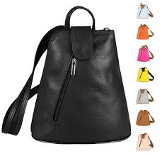 details about italy women s leather backpack shoulderbag backpack leisure