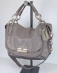 16823 Coach Kristin Elevated Sage Gray Leather Round Satchel Bag  698.00   Coach  ShoulderBag