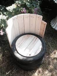 old tires with pallets wood outdoor