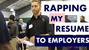 Student Raps Resume At Career Fair Youtube