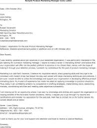 Sample Cover Letter Product Manager Marketing Manager Cover Letter ...