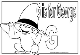 curious george coloring pages to print curious george to print g is for george printable g is for george printable