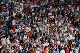 Fans storm into Wembley Stadium for ...