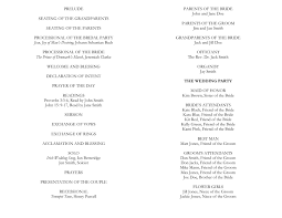 Printable Wedding Program Templates Wedding Program Templates