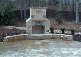ideas stone corner fireplace outdoor kitchen and dinning for amazing concrete outdoor fireplace