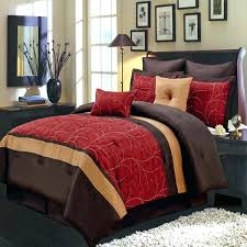 luxury bedding sets california king modern embroidered red and brown comforter set luxury bedding sets cal