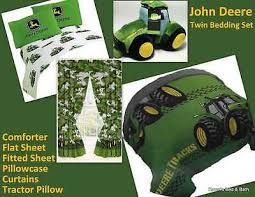 john deere twin boys farm bedding set