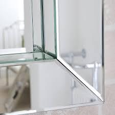 deep all glass bathroom mirror