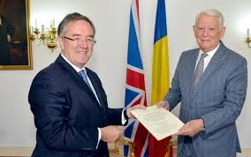 new british ambador to bucharest andrew le presented meleu s letter of accreditation
