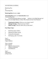 Advertising Plan Pdf Advertising Plan Example Advertising Plan And Brief Essay