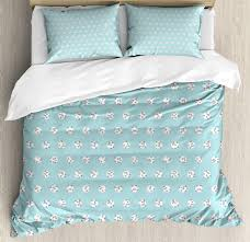 image is loading pale blue duvet cover set with pillow shams