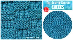 Loom Knit Patterns Impressive LOOM KNITTING STITCH Garter Stitch Checks Version Of The Basketweave