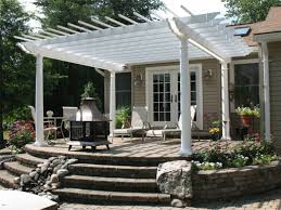 Patio Pergola Ideas Raised Patio With Pergola Simple And White With Grey  Combined Colors Decoarte Modern Amazing Simple Item