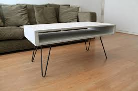 pallet coffee table in solid white