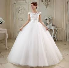 tulle ball gown wedding dress with handmade flower and pearl 2017