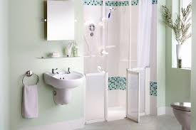 bathroom for elderly. Green Bathroom For Elderly With Mounted Wall Sink And Mirror E