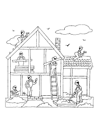 Coloring Pages Of Houses And Buildings - Coloring Pages Ideas