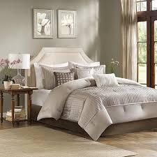 7 piece comforter set queen taupe