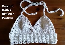 Free Crochet Halter Top Pattern Fascinating Crochet From J Halter Bralette Pattern