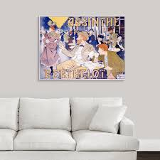 greatbigcanvas absinthe berthelot vintage poster by thiriet by great big canvas canvas on great big canvas wall art with greatbigcanvas absinthe berthelot vintage poster by thiriet by